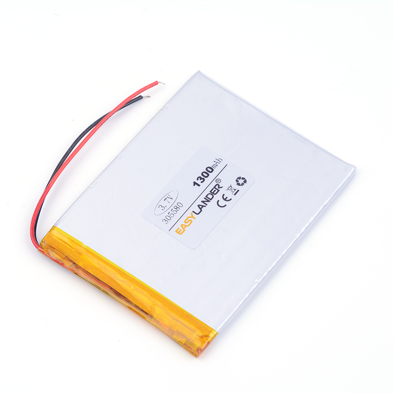 3.7v lithium ion rechargeable battery 305580 1300mAh For MP4 PSP GPS Tablet PCs PDA 035580
