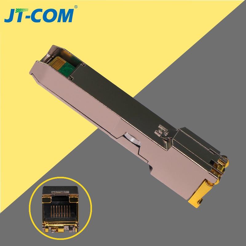 Gigabit RJ45 cobre transceptor SFP módulo Compatible con Cisco/Mikrotik GLC-T/SFP-GE-T 1000Base-T Ethernet FTTH Fibra óptica