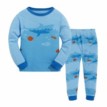 buy boys shark pajamas and get shipping on com luckygoobo 2 7 years shark printing 100% cotton