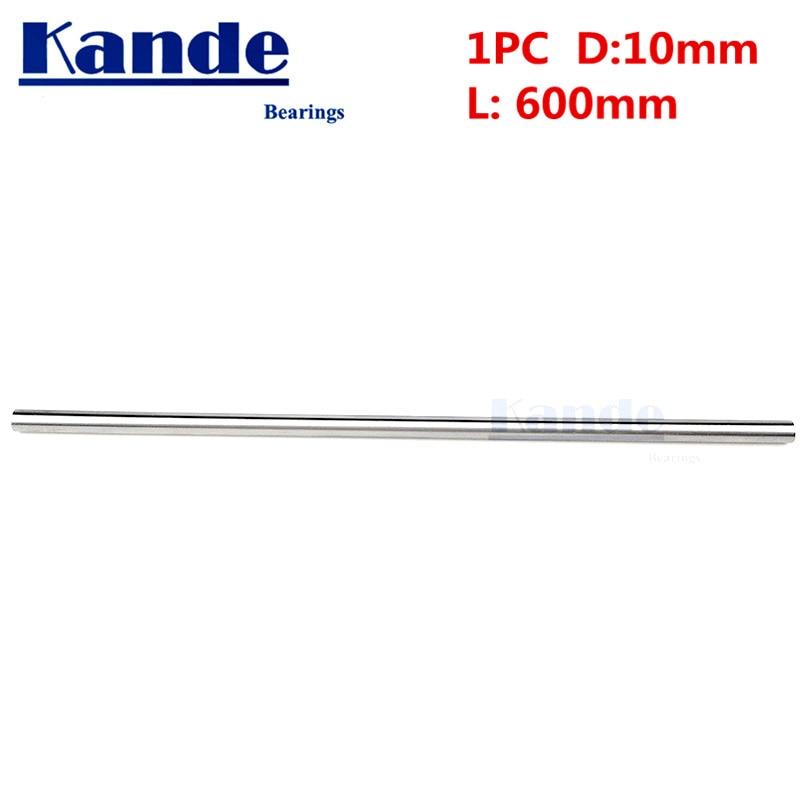 Kande Bearings 1pc d:10mm 600mm 3D printer rod shaft 10 mm linear shaft chrome plated rod shaft CNC parts Kande Bearings 1pc d:10mm 600mm 3D printer rod shaft 10 mm linear shaft chrome plated rod shaft CNC parts