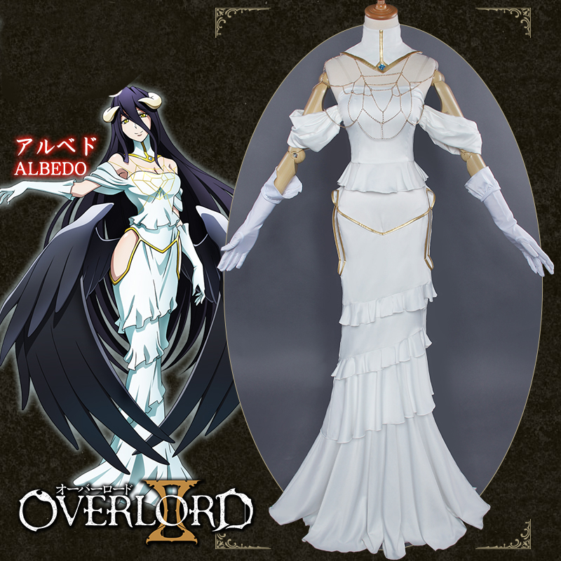 Anime Overlord Albedo Women Skirts Cosplay Costumes Sexy ...