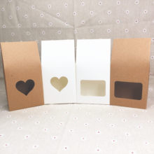 8Pcs/Lot Standing Up Kraft Paper Box With PVC Heart Shape Window Brown White For Women' Jewelry Accessory Packaging Handle Boxes(China)