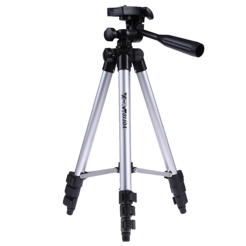 Professional Adjustable Video Tripod Unversal Aluminum Camera Stand Stabilizer With Hydraulic Ball Head 1/4 Screw Mount Adapter