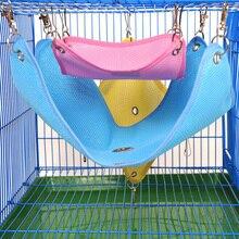 3 размера гамак для домашних животных хомяк крыса попугай хорек Подвеска для хомяка кровать подушка хомяк дом клетка аксессуары для хомяков