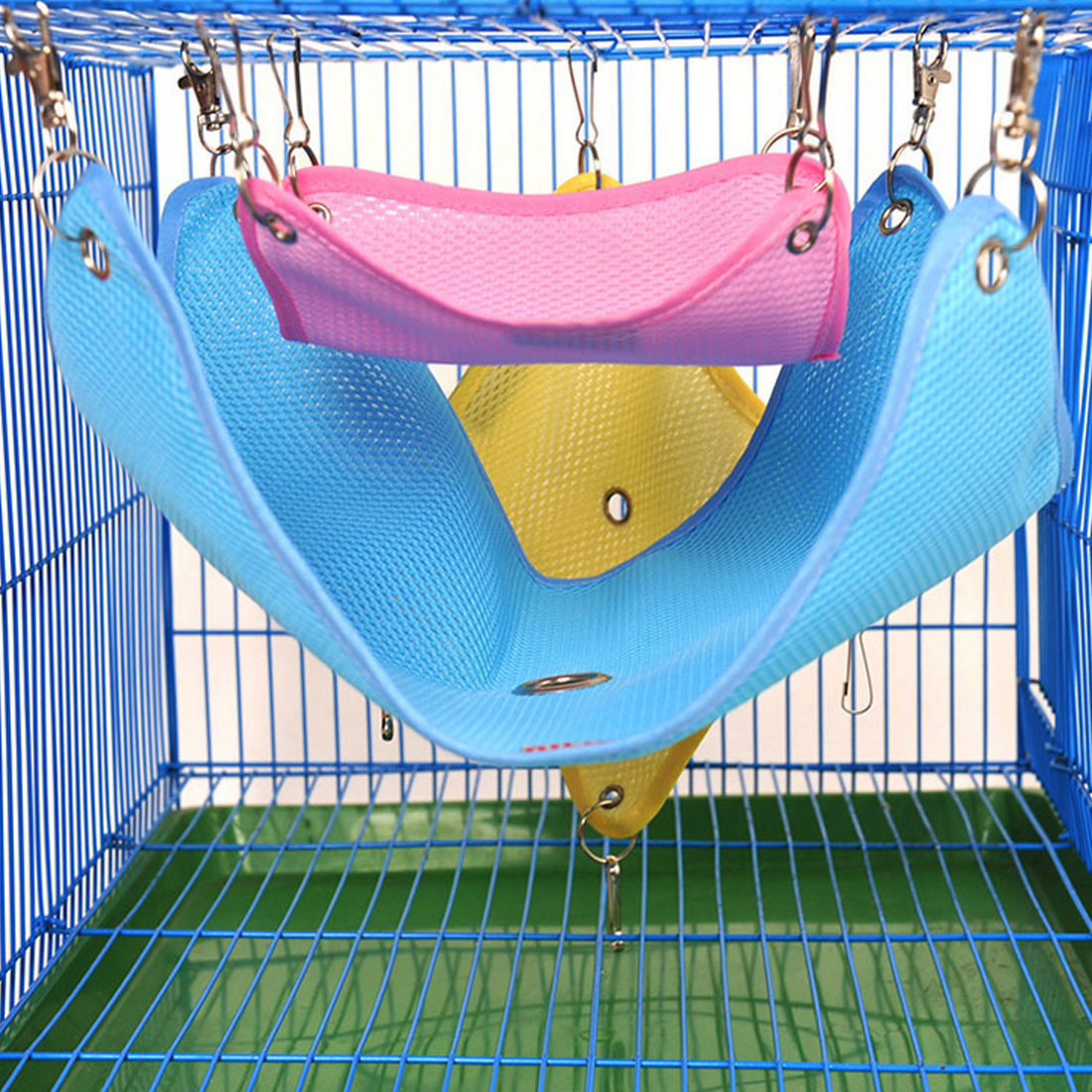 3Colors Hammock Pet Hamster Rat Parrot Ferret Hamster Hanging Bed Cushion Hamster House Cage Accessories For Hamsters