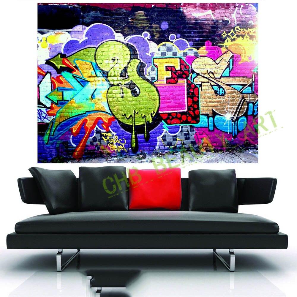 Grafitti art kopen - 2017 Straat Murel Urban Graffiti Canvas Schilderij Banksy Muur Pictures Voor Woonkamer Gedrukt Decoratieve Pictures