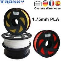 Tronxy 1 kg pla filamento da impressora 3d 1.75mm impressoras diy materiais consumíveis ambientais fdm impressão filamentos preto branco