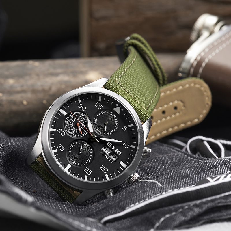 KIMIO Fashion Women M Mechanical movement alloy case canvas strap stainless steel pin buckle luminous pointer Watch 2018 цена 2017