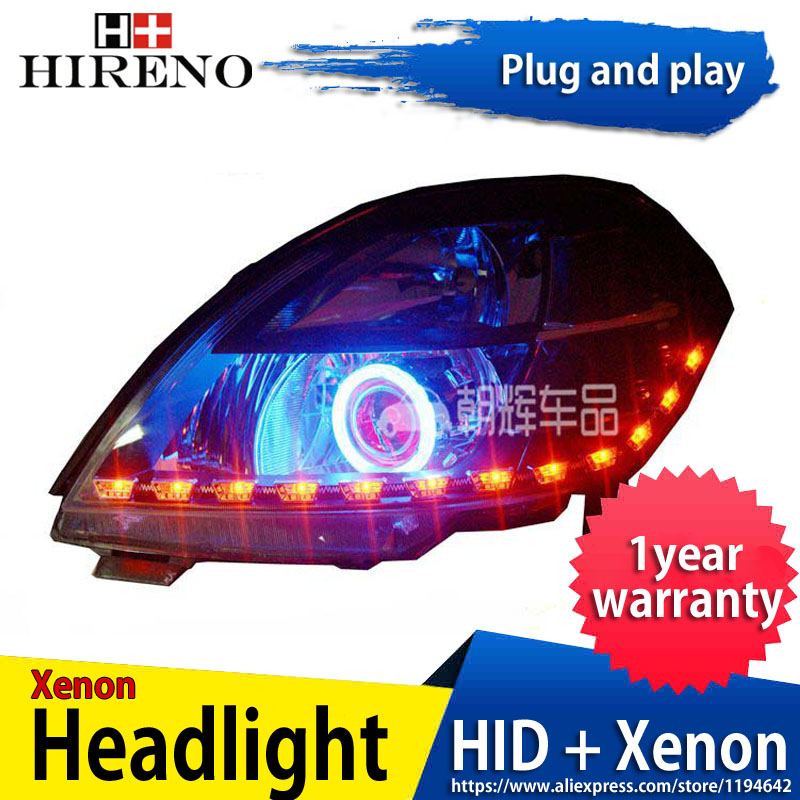 Car custom Modified Xenon Headlamp for Nissan Altima teana 2004-07 Headlights Assembly Car styling Angel Lens HID 2pcs hireno headlamp for mercedes benz w163 ml320 ml280 ml350 ml430 headlight assembly led drl angel lens double beam hid xenon 2pcs