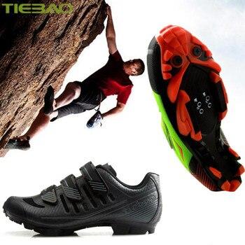 revisa d0570 0060c Tiebao Ciclismo zapatos Sapatilha Ciclismo MTB hombres 2019 Ciclismo  zapatillas bicicleta de montaña zapatos de carreras al aire libre  superestrella ...