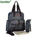 Новый лоскутное Star pattern мумия сумка рюкзак долговечность водонепроницаемый нейлон материнства ухода матери мешок пеленки и детские пеленки мешок