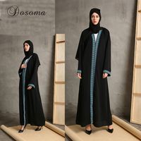 Muslim Abaya Musulmane Turkish Print Cardigan Robes Maxi Dress Women Islamic Dubai Turkey Instant Hijab Arab