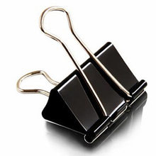 36 pieces/Lot Black Metal Binder Clips 15/19/25/32/41/51mm Notes Letter Paper Clip Office Supplies Binding Securing clip Product