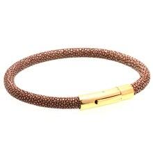 Magic Fish Charms bracelet Men Genuine stingray leather bracelets&bangles 316L Titanium gold buckle Wholesale world of warcraft цена 2017