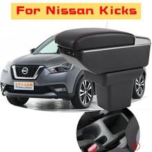 Leather Car Armrest  For Nissan Kicks Centre Console Storage Box цена и фото