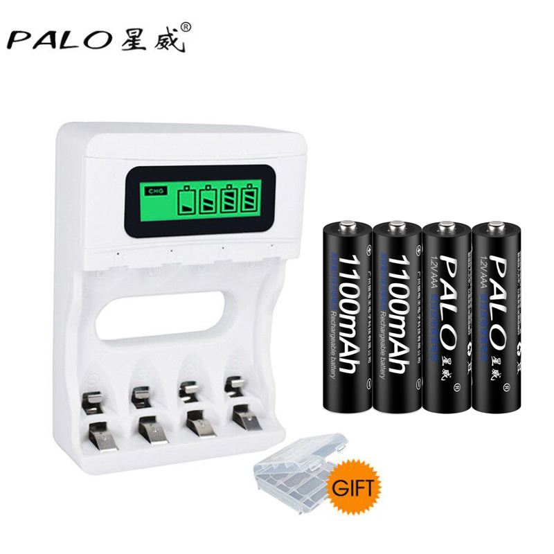 Quick Charger NC07 With LCD Display For AA/AAA NI-MH NI-CD Rechargeable Battery+ 4pcs 1.2V 1100mAh Low-self Discharge Battery