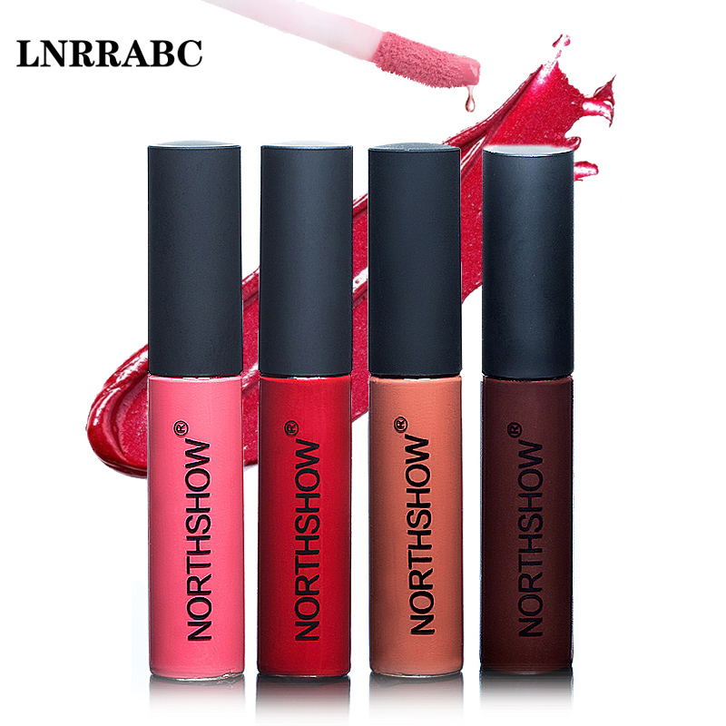 Fashion Makeup 12 Colors Lip Glosses Liquid Sexy Lipstick Matte Velvet Lipstick Long-Lasting Nude Red shimmer Lip Gloss Cosmetic