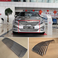 Alloy Aluminium Front Center Racing Mesh Bumper Grills Billet Grille Cover For KIA K5 2014