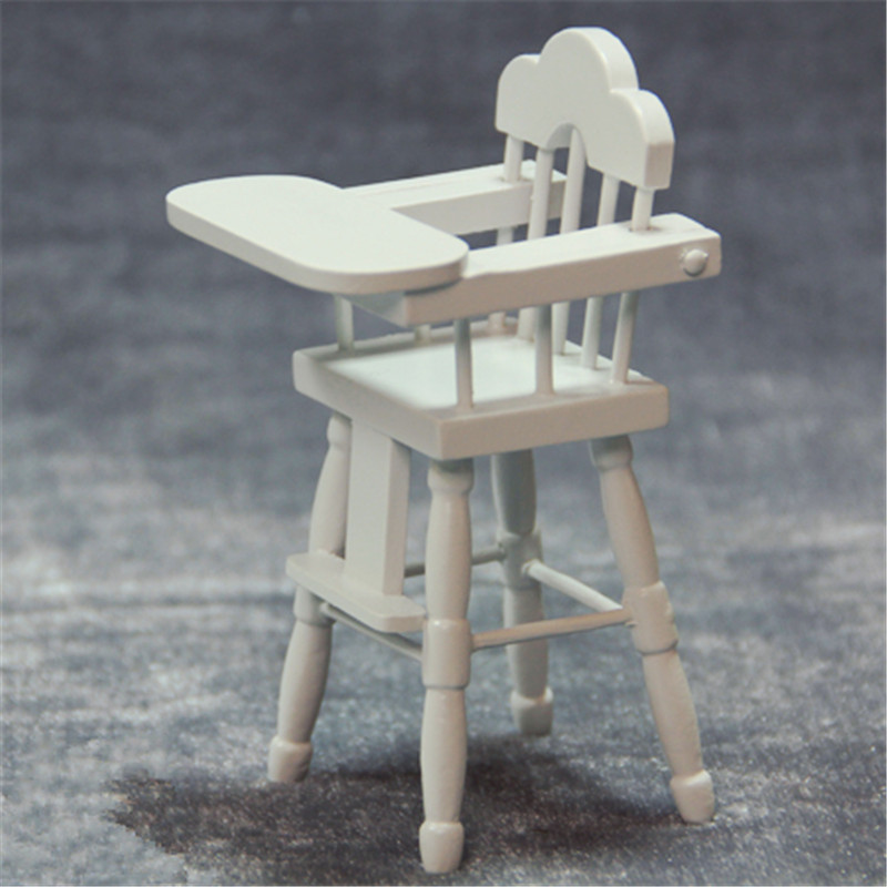 Astounding Us 8 17 5 Off 1 12 Miniature Dolhouse Furniture Mini Chair White Wooden Baby High Chair Play Doll House Toy In Furniture Toys From Toys Hobbies On Gmtry Best Dining Table And Chair Ideas Images Gmtryco