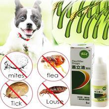 8 мл собака кот Анти-блохи капли инсектицида пестицида блохи вши устройство для убивания насекомых жидкий спрей для собак и кошек для котенка обработки товары для домашних животных