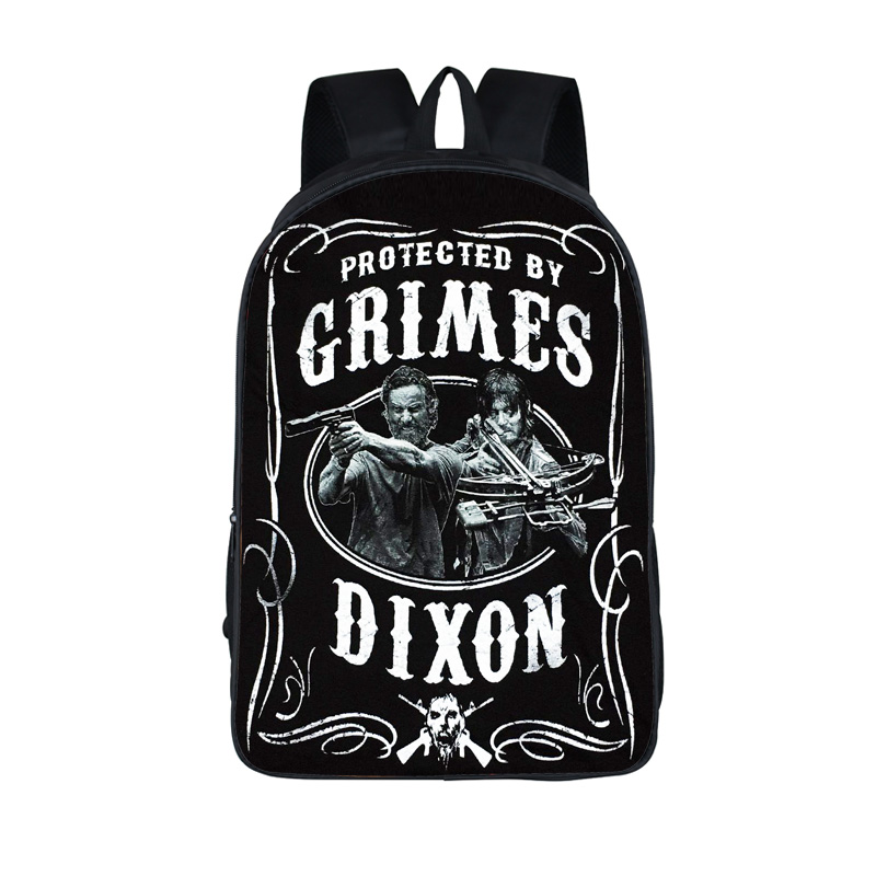 The Walking Dead Backpack Negan Team Daryl Dixon School Bags Backpack For Teenager Women Men Daypack Boys Girls School Backpacks men backpack student school bag for teenager boys large capacity trip backpacks laptop backpack for 15 inches mochila masculina