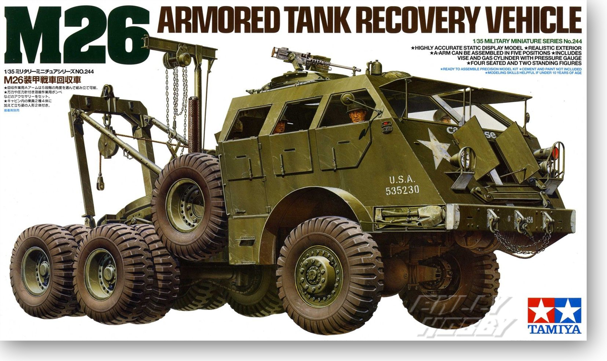 1/35 US M26 Tank Tractor Dragon Recovery Vehicle 352441/35 US M26 Tank Tractor Dragon Recovery Vehicle 35244