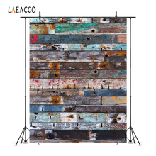 Laeacco Grunge Faded Wooden Board Photo Backgrounds Customized Photography Backdrops For Studio