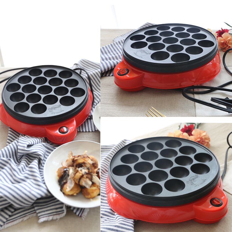 18 Holes Multi Cooker 220V Electric Octopus Balls Plate Non-stick High Quality Electric Octopus Balls Maker Baking Machine high quality electric cooker plastic injection mold