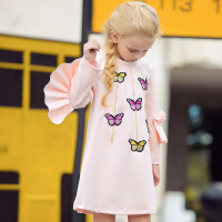 2019 fashion Dress Cute butterfly Embroidery Girls clothes Kids princess dress Floral Children dresses party Christmas dress lol