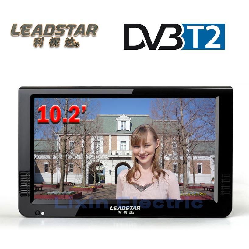 LEADSTAR HD TV portátil 10 pulgadas Digital y analógico Led televisores apoyo TF tarjeta USB Audio del coche televisión DVB-T DVB-T2 AC3