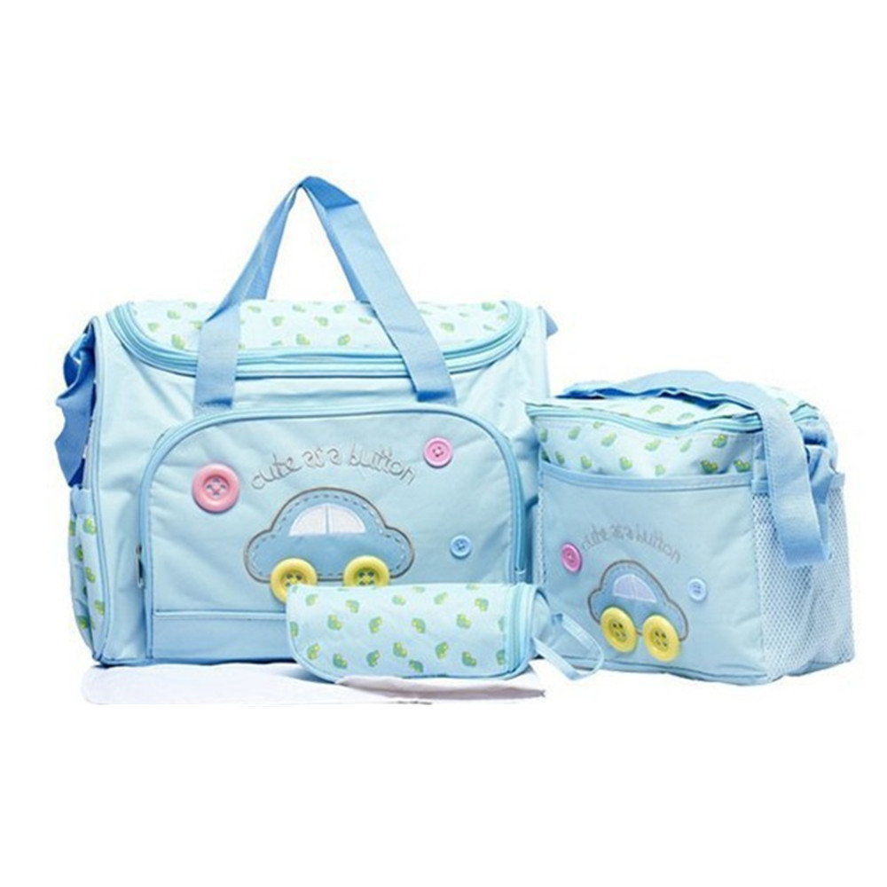 Diaper Bags Nappy Changing Bag With Pad Four Set Car Fabric Large Capacity Shoulder Bag Baby Multifunction Mummy Nursing Bag