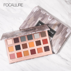 FOCALLURE 18 Colors All Mate Eye Shadow Highly Pigment Cream Eyeshadow Palette Easy to Blend Makeup Shadow Earth Color Comestic