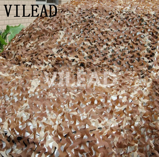 VILEAD 3M x 9M (10FT x 29.5FT) Desert Digital Camo Netting Military Army Camouflage Net Shelter for Hunting Camping Car Covers vilead 7m x 9m 23ft x 29 5ft desert military army camo netting digital camouflage net jungle shelter for hunting camping tent