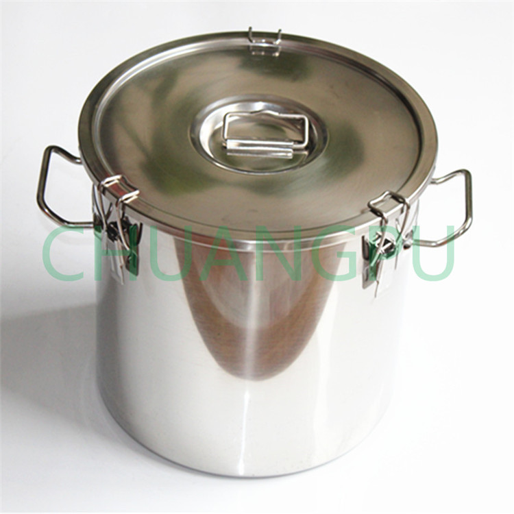 21Liter New Type Stainless Steel 304 Material Milk Barrel with Lid for Cow Milking Machine