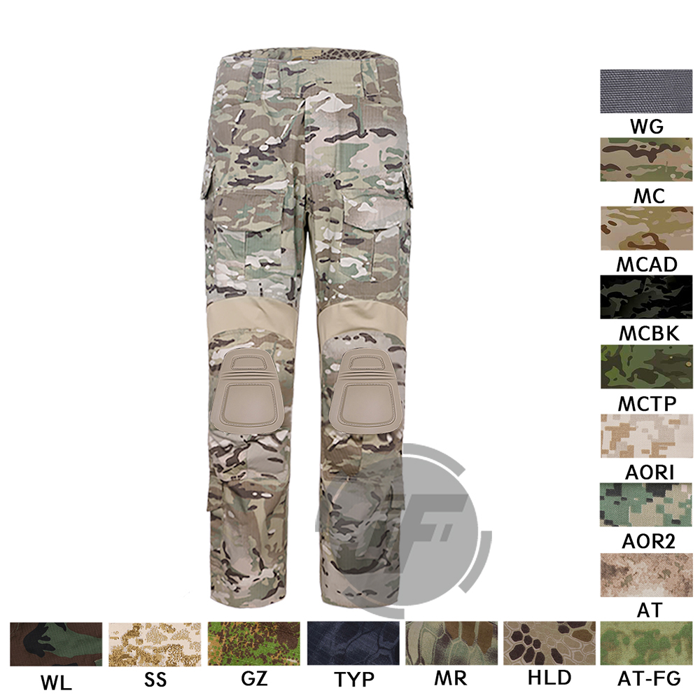 Emerson Tactical New BDU G3 Combat Camo Pants Military Army Hunting Pants With Knee Pads CP