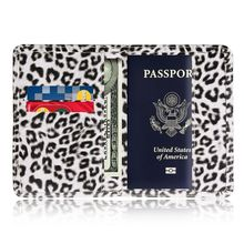 TRASSORY Leather Wild Leopard Style Passport Cover Case with Card Case and Cash Holder стоимость