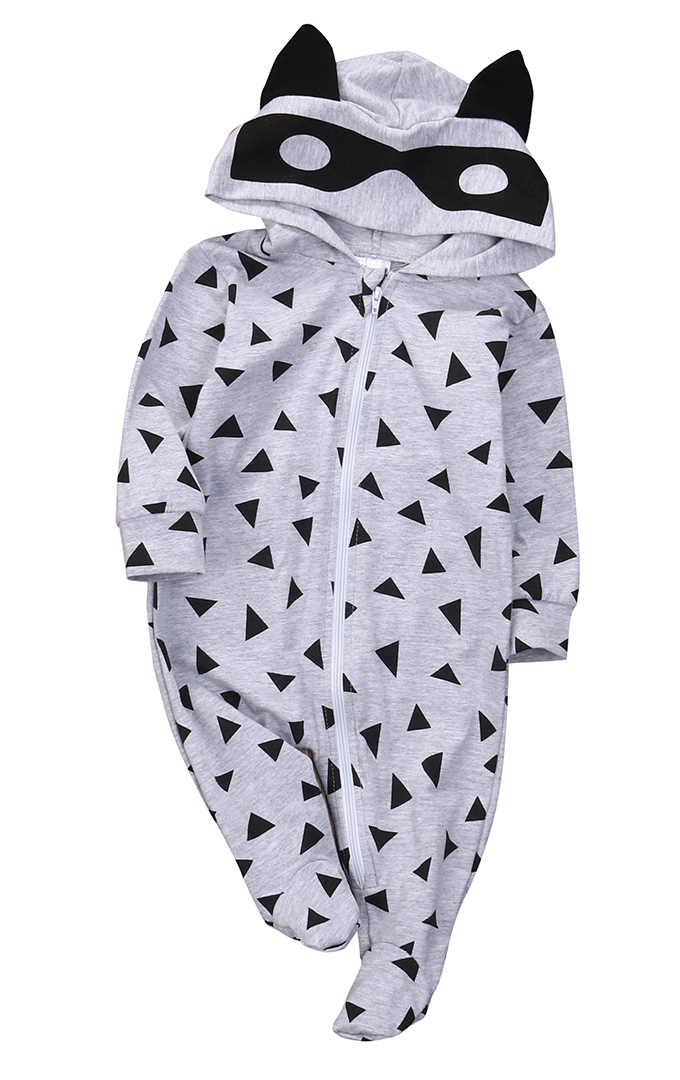 Newborn Kids Baby Boy Girl Infant Autumn&Winter Cartoon Long Sleeve Romper Jumpsuit Hooded Clothes Outfit unisex winter baby clothes long sleeve hooded baby romper one piece covered button infant baby jumpsuit newborn romper for baby