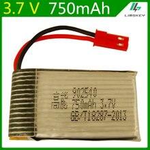 3.7V 750mAH 1S bateria lipo dla MJXRC X400 X500 X800 Huanjun HJ819 oryginalny bateria lipo 3.7V 750mAH LI-PO baterii 902540 JST