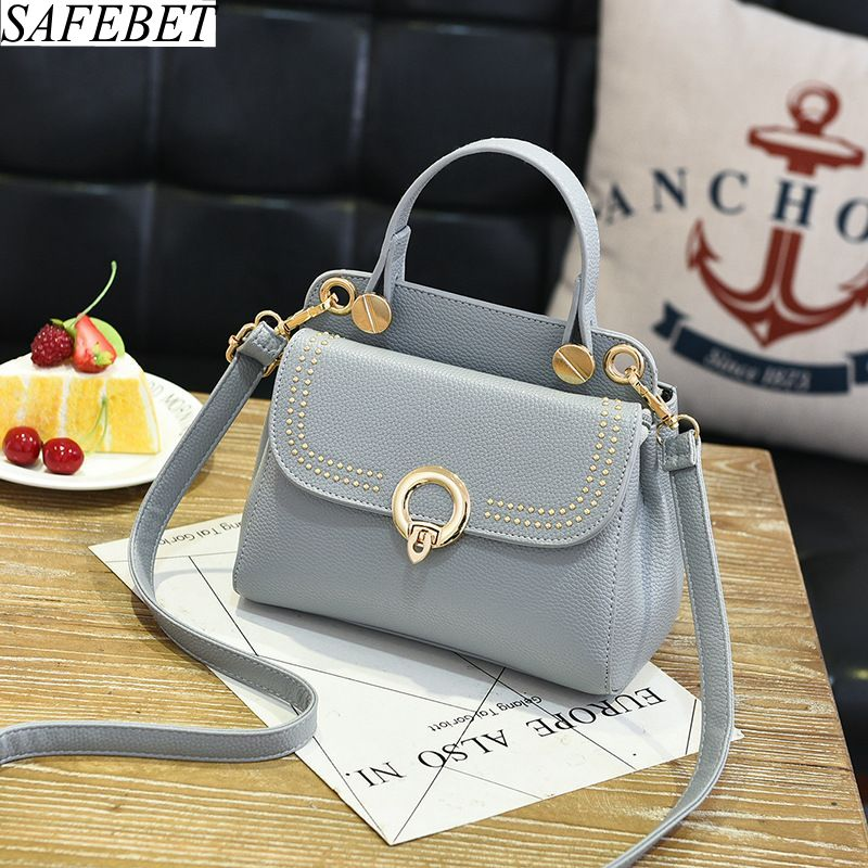 SAFEBET 2018 High Quality PU Leather Ladies Fashion Luxury Tote Bag Women Hand bag Shoulder bags Messenger bags