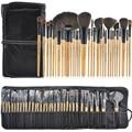 32 Pcs Profissional Maquiagem Cosmética Conjunto Escova de Cabelo Sintético Fundação Mistura Pestana Sobrancelha Sombra de Olho Lábio Brushes Kit com Saco