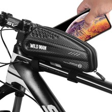 WILDMAN Bicycle Waterproof Anti Pressure Top Tube Front Frame Bag Cycling Saddle Tail Bag Cellphone Bag Bike Repair Tool Bag ring front saddle bag