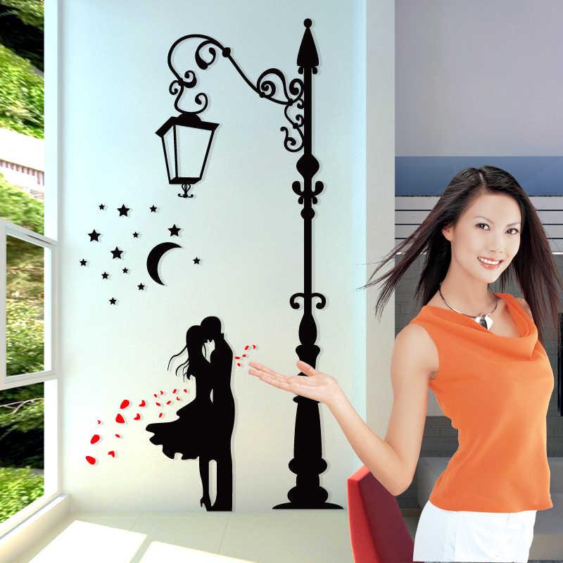 Blk חובבי הלילה נושא 3D קיר מדבקות קל שוד אקריליק חדר קישוט טלוויזיה ספה בית קיר מדבקת adesivo דה פארדה