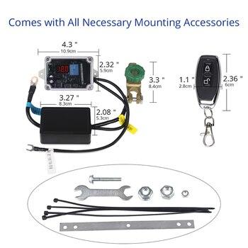 Uzaktan Kumanda Evrensel 12v Araba Pil Anahtarı Bağlantı Ile Kesilmiş Voltmetre Güç Master Anahtarları İzolatör + Eldiven