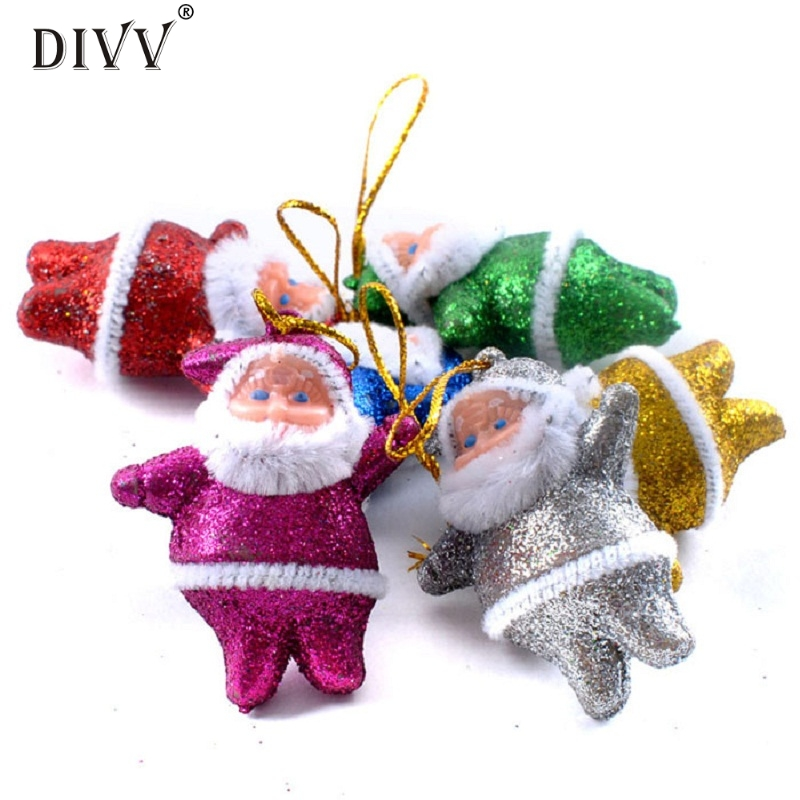 JY 20 Mosunx Business 2016 Hot Selling 6PC Colorful Christmas Santa Claus Party Ornaments Xmas Tree Hanging Decoration