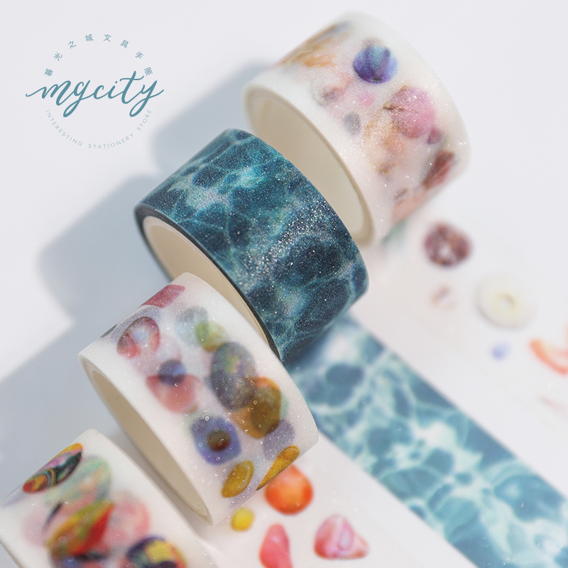Flash Series Bullet Journal PET Washi Tape Decorative Frosted Adhesive Tape DIY Scrapbooking Sticker Label Stationery