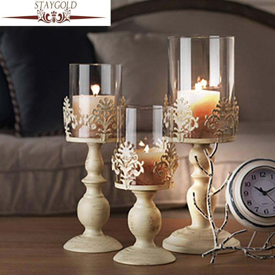 staygold vintage decoracin romntica decoracin de la boda candelabros candelabros de cristal alto blanco candelabros de