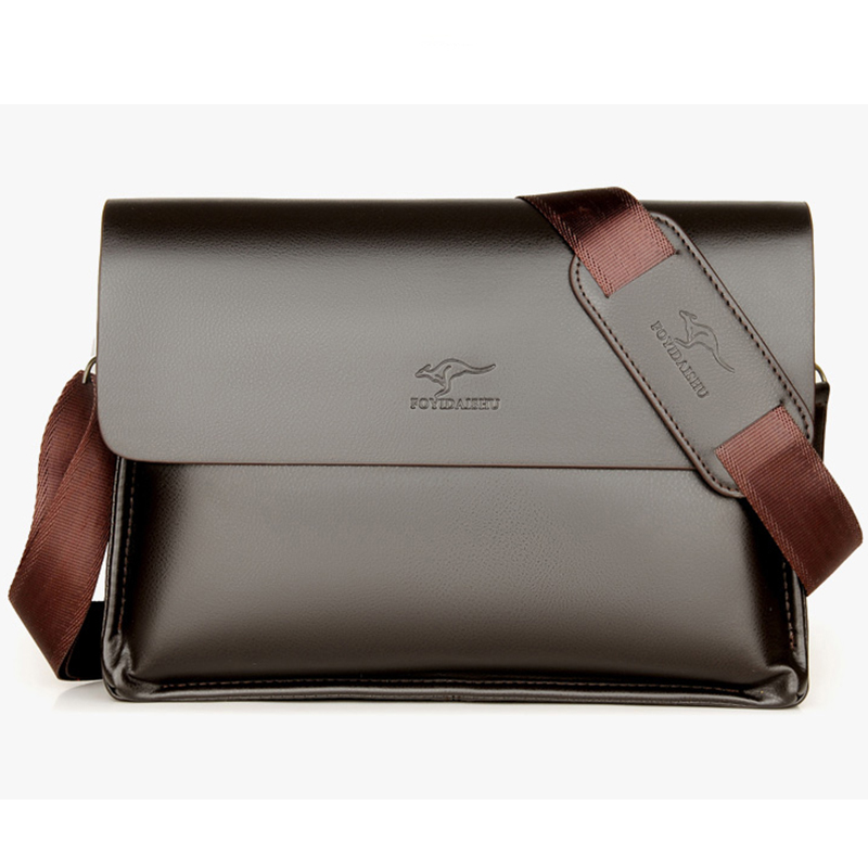 Mens Messenger BLACK Leather Bag iPad Laptop Vintage Shoulder Record MAN BAG New