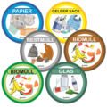 色廃棄物ビン廃棄分離ビン分類ステッカー