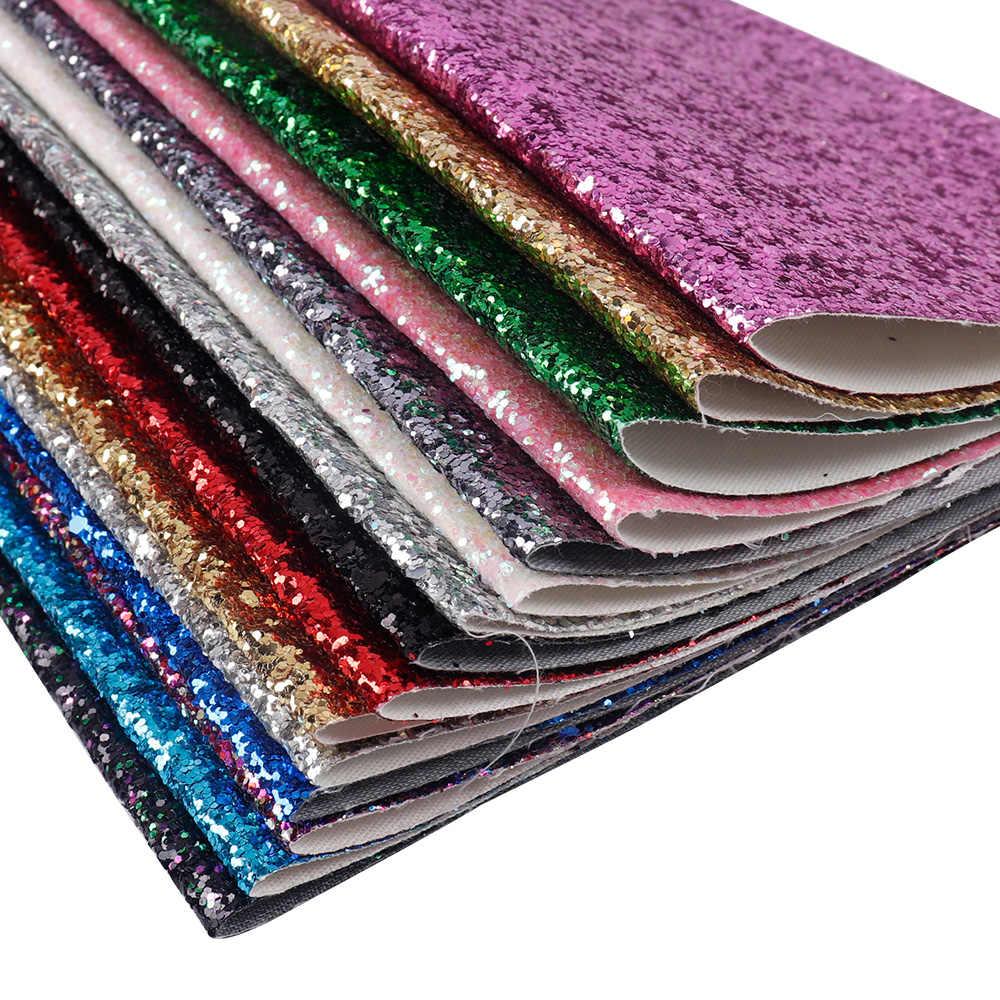 Xugar Nieuwe 22*30cm Shiny Glitter Vinyl Synthetisch Leer Patchwork Voor Haar Boog Handtassen Portemonnee Telefoon Cover DIY handgemaakte ambachten