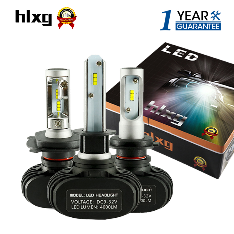 2Pcs 9005 HB3 9006 HB4 H11 H4 H7 Led H1 Auto Car Headlight S1 N1 50W 8000LM 6000K Automobile Bulb All In One CSP Lumileds Lamp